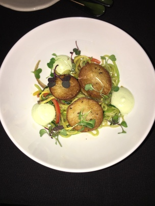 earth scallops and zoodles